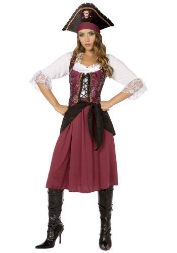 Palamon - Burgundy Pirate Wench Adult Costume