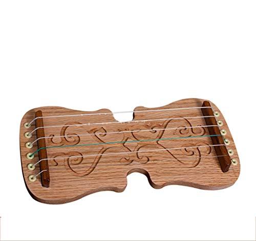 N /A Guzheng, Mini Guzheng, Guzheng Finger Trainer mit Zubehör, Protable, Größe: 25,5 x 13 cm, 6strings, Geeignet for Anfänger, Erwachsene, Kinder,