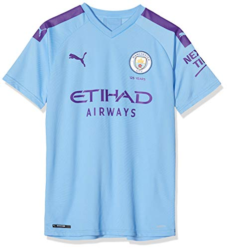 PUMA MCFC Home Shirt Replica Jr Top1 Player Maillot, Unisex niños, Team Light Blue-Tillandsia Purple, 152