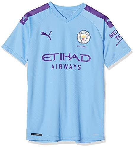 PUMA MCFC Home Shirt Replica Jr Top1 Player Maillot, Unisex niños, Team Light Blue-Tillandsia Purple, 128