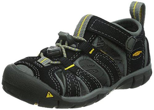 Keen Keen Seacamp II CNX Kleinkind Sandale 1010000, Black/Yellow, 19 EU