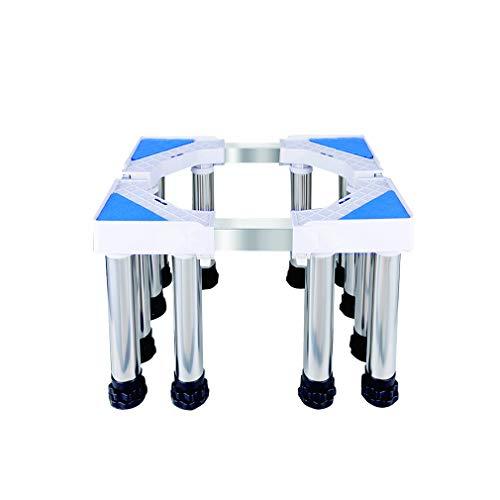 Base para Lavadora con 8/12 Patas Regulables En Altura 29-32cm Pedestal y Marco para Neveras ZóCalo Para Secadora Ajustable Largo 40-74cm Ancho 48-66cm AntivibracióN De Bajo Ruido