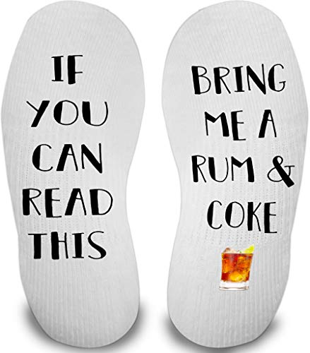 If You Can Read This Socks (Rum & Coke)