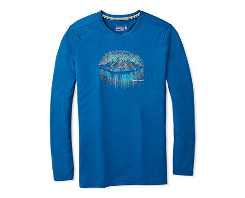 Smartwool Merino Sport 150 Mountain Aurora Long Sleeve T-Shirt Homme Alpine Blue FR : 2XL (Taille Fabricant : XXL)