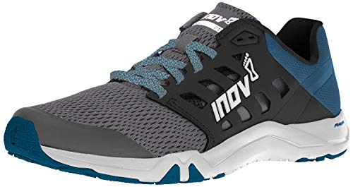 Inov-8 Mens All Train 215 | Lightweight Cross Training Athletic Shoe | for Versatile Training | Great Support When Weight Lifting and Power Lifting |Grey/Blue Green M11/ W12.5