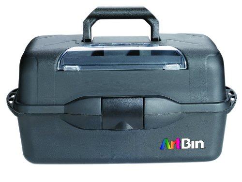 ArtBin Essentials XL 3 Box Portable Art & Craft Organizer with Lift-Up Trays Black, 20 x 10.25 x 10.38 inches