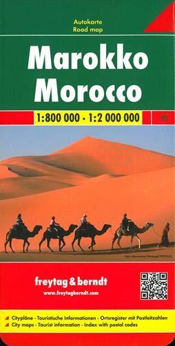F&B Marokko: Wegenkaart 1:800 000 / 1:2 000 000