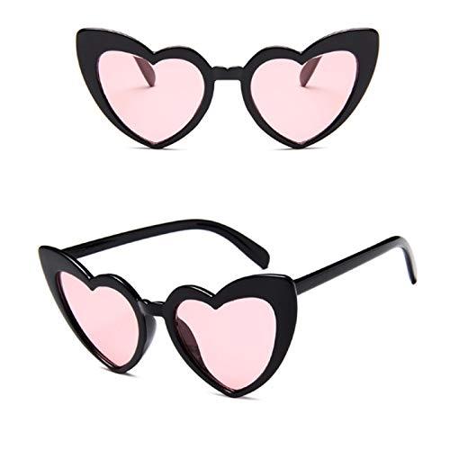 NJJX Retro Love Gafas De Sol En Forma De Corazón Gafas De Mujer Ojo De Gato Gafas De Sol Señoras Compras Gafas De Sol Rosa