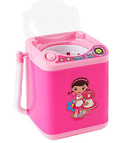 Automatic Makeup Brush Cleaner Device, Mini Washing Machine, Simulation Small Household Appliance Cleaner Mini Toy (Rosa B)