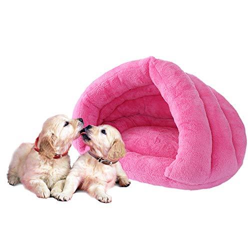 IEUUMLER Cama Perro Pequeño Saco de Dormir Casa y Sofá para Perros Gato Puppy Conejo Mascota IE119 (Rose Red)