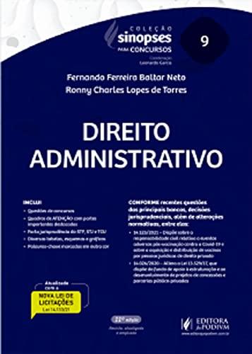 Sinopses Para Concursos - Volume 9 - Direito Administrativo - 11ª Edição (2021)