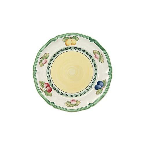 Villeroy und Boch Brotteller, Porzellan, Weiß/Mehrfarbig