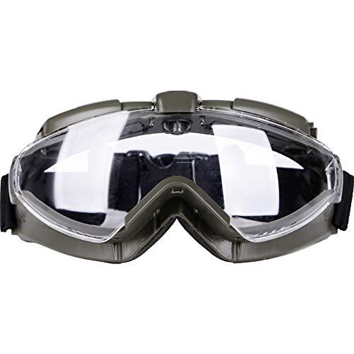 Aoutacc Gafas tácticas Airsoft con Ventilador y Lente Transparente antivaho 100% Anti-UV para Motociclismo al Aire Libre, Airsoft, Paintball, Caza, Pistola BB, Color Verde, tamaño Talla única
