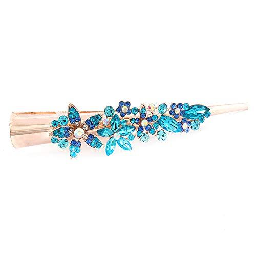 Nikgic - Problème de Carte Alliage - Longueur 13cm Convient Aux Femmes Accessoires de Cheveux Pince à Cheveux (Bleu)