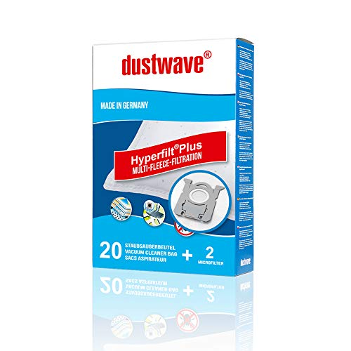 20x dustwave® PREMIUM-Staubsaugerbeutel für Edeka - E 05 / E05 / Extradickes Vlies für Allergiker - Markenstaubfiltertüten