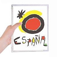 レッド・イエロー・サンシャイン・スペイン語 硬質プラスチックルーズリーフノートノート
