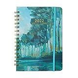 1 Stück A5 Spiral-Notizbuch Hardcover Geschäftliches Notizbuch 2022 Kalender Spiral-Tagebuch 200-seitiges Tagebuch-Notizbuch für Bürobedarf College Studenten Schulbedarf
