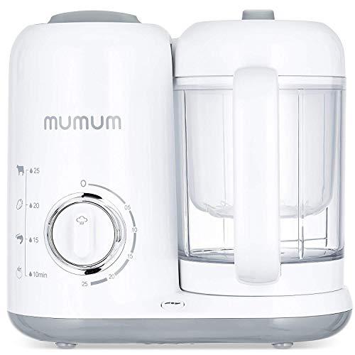 Mumum Baby Food Maker   Blender Grinder Steamer   Defrost, Steam, Cook & Blend with Built in Timer