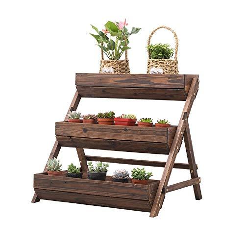 QINQICL Soporte De Flores Para Jardineras Escalonadas Soporte De Planta De 3 Niveles, Soporte De Exhibición de Plantas Estante de Exhibición De Escalera Estante De Macetas Organizador Estantes