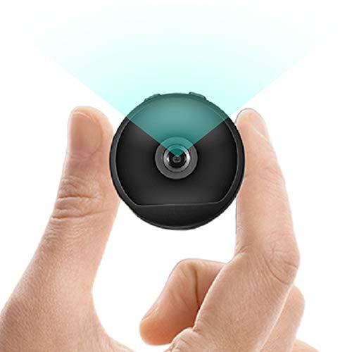 RNNTK Portátil WiFi Cámara, Coche Oficina Tienda Oculta Camara De Seguridad,Full HD 1080P Cámara con Visión Nocturna Detección De Movimiento