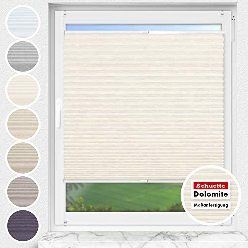 Estor plisado Schuette® a medida sin taladrar, colección Dolomite Vanilla Sky (beige),...