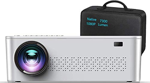 "Native 1080p Projector,7300 L Projector for Outdoor Movies with 400""Display,Support 4K Dolby & Zoom,100000 hrs Life,Indoor & Outdoor Projector Compatible with TV Stick,HDMI,VGA.USB,Smartphone,PC"