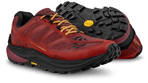 Topo Athletic MTN Racer Trail Running Zapatillas para Hombre, Color Rojo/Naranja, Talla 9