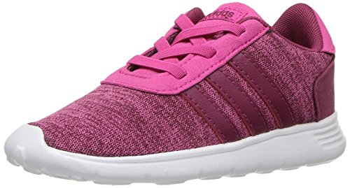 adidas Baby Lite Racer Running Shoe, Real Magenta/Mystery Ruby/White, 5K M US Toddler