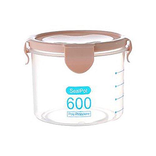 Recipiente de plástico hermético para almacenamiento de alimentos, recipientes sellados transparentes para alimentos, cereales, frijoles, nueces(800ML-azul)