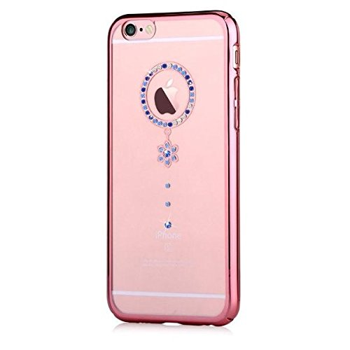 Funda Swarovski iPhone 6/6S Plus Crystal Camelia Azul RG