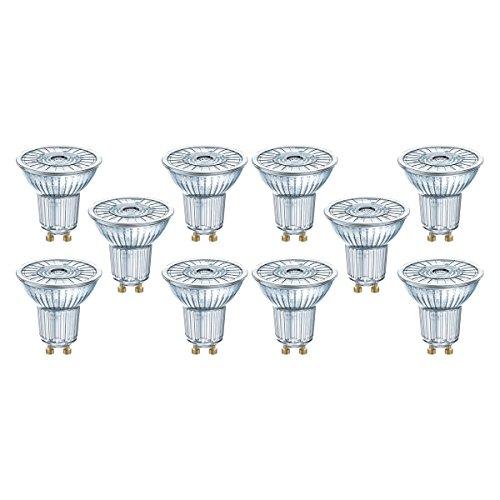 Osram LED Star PAR16 Reflektorlampe, mit GU10-Sockel, nicht dimmbar, Ersetzt 80 Watt, 36° Ausstrahlungswinkel, Warmweiß - 2700 Kelvin, 10er-Pack