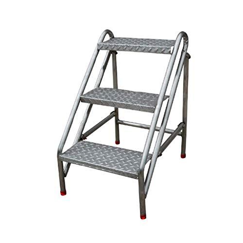 DX Escalera de Escalera portátil Plegable Industrial de 3 peldaños, Escalera de...