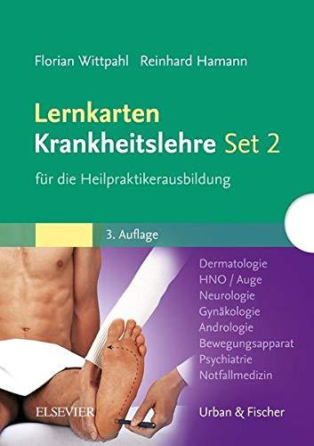 Lernkarten Krankheitslehre Set 2 für die Heilpraktikerausbildung: Dermatologie, HNO, Auge, Neurologie, Gynäkologie, Andrologie, Bewegungsapparat, Psychiatrie, Notfallmedizin