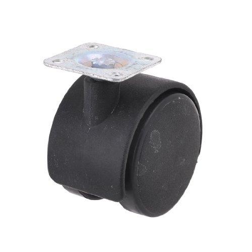 DealMux a13062600ux0358 2 Piatto quadrato ruote gemellari nero Ruote girevoli per carrelli