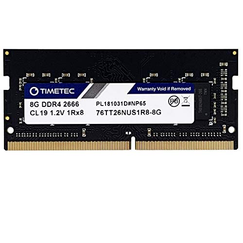 Timetec Hynix IC 8GB DDR4 2666MHz PC4-21300 Unbuffered Non-ECC 1.2V CL19 1Rx8 Single Rank 260 Pin SODIMM Laptop Notebook Computer Memory RAM Module Upgrade 8GB