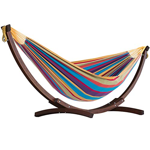 Vivere C8SPCT-20 Solid Combo Wood Hammock, Tropical
