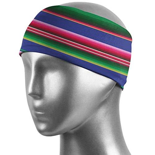 Meloci Sport Stirnbänder Bunte mexikanische Decke Streifen 01 Stirnbänder Hochsaugfähige Schweißbänder rutschfeste Bandana Stirnband