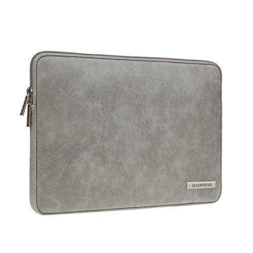 Rainyear - Funda protectora para portátil de 13 pulgadas, de piel sintética, resistente al agua, compatible con MacBook Air/Pro Surface Book/Laptop de 13,3 pulgadas, color gris