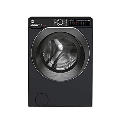 Hoover H-Wash 500 HD4106AMBCB Free Standing Washer Dryer, WiFi Connected, A Rated, 10 kg/6 kg, 1400 rpm, Black
