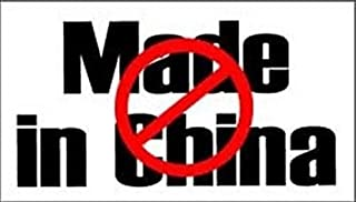 NO MADE IN CHINA FUN FUNNY AMAZING GREAT HIGH QUALITY BUMPER STICKER STI-0471