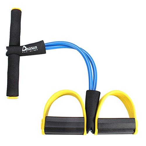 Tutoy rias Multifunción-Abdominales Elasicity Resistencia Bandas Fitness Equipos Expansor Pedal Ejercicio Dispositivo-Azul Oscuro
