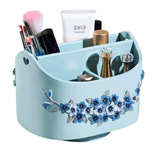 Zjnhl Household Necessities/Storage Box Girls' Best Gift Bedroom Bathroom Dressing Table Storage Box Rack European Creative Living Room Finishing Box Remote Control Makeup Brush Storage Rack