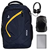 ADISA BP004 Navy Blue Light Weight 31 Ltrs Casual Laptop Backpack with rain Cover