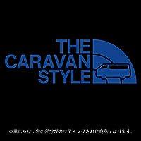 キャラバンNV350 ステッカー THE CARAVAN STYLE【カッティングシート】パロディ シール(12色から選べます) (ブルー)