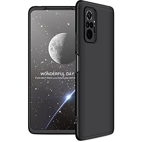 KERUN Funda para Xiaomi Redmi Note 10 Pro Funda, Robusta PC Mate Anti-arañazos y Antideslizante Protectora Sedoso Bumper, Estuche de teléfono Ultrafino Prueba de Golpes Moda. Negro