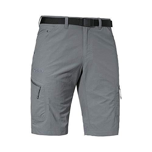 Schöffel Shorts Silvaplana2 Herren Hose, vielseitige Wanderhose mit separatem Gürtel, komfortable Outdoor Hose mit praktischen Taschen, grau,52