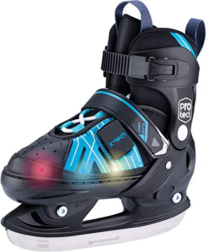 X - Tech THUNDER LED Schlittschuh black/blue, 37-40