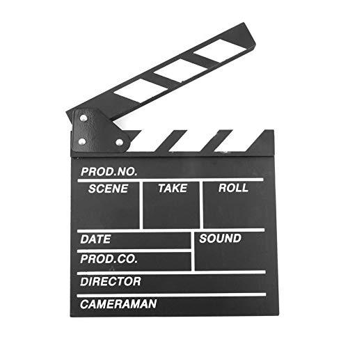 Madera 20x20x1.5 cm Director Video Escena Claqueta Cine TV Tablero de la...