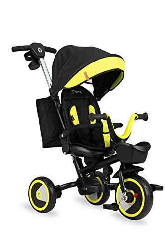 MOMI INVIDIA Triciclo Infantil 5 en 1 con función Buggy con Asiento de 360°, para niños de 9 Meses a 5 años, Estructura Estable, Asiento con cinturón de Seguridad de 5 Puntos, protección UV