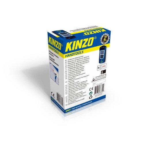 Kinzo 38330 Mesureur de distance à ultrasons / télémètre visée laser